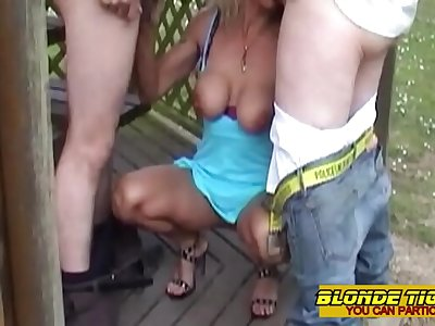 Hot milf searching cumshots on highway area - amateur compilation