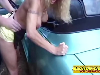 2 amateur lesbians caught in car by hot firemen