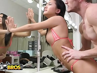 BANGBROS - Chinese Teen Alina Li Gets Fucked By Brick Danger In The Dressing Room