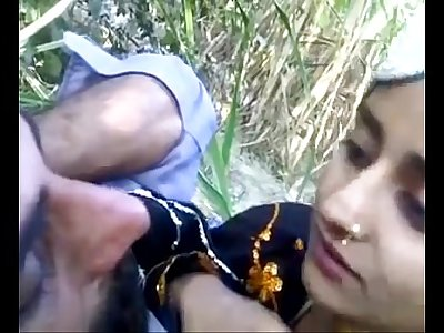 desi man with beautifull teen outdoor