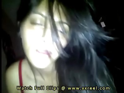 Desi Indian girlfriend giving blowjob after sex