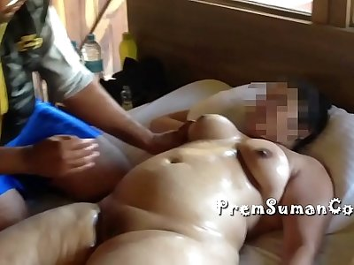 Desi wife Suman getting nude massage hubby filming [Part 3]